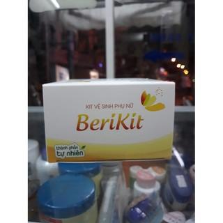 Berikit Kit vệ sinh phụ nữ Mẫu mới gồm 15 gói rửa của Dược phẩm Cát Linh 5