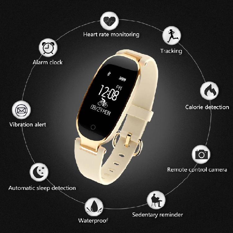 Heart rate monitoring pedometer cycling position Bluetooth health 103 bracelet
