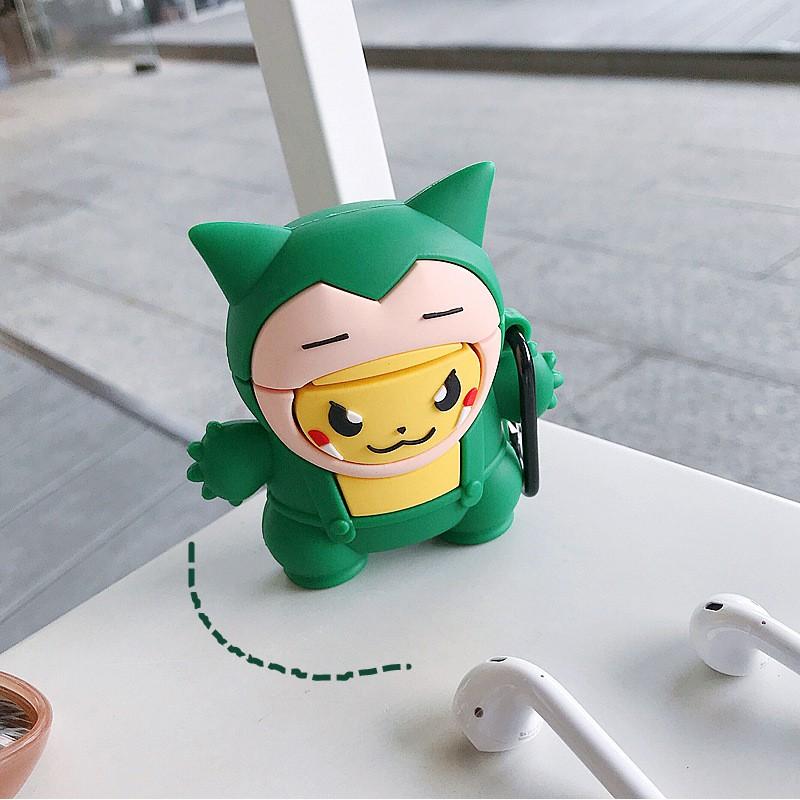 Vỏ bảo vệ bao đựng tai nghe Airpod 1/Airpod 2-Mã ốp pokemon