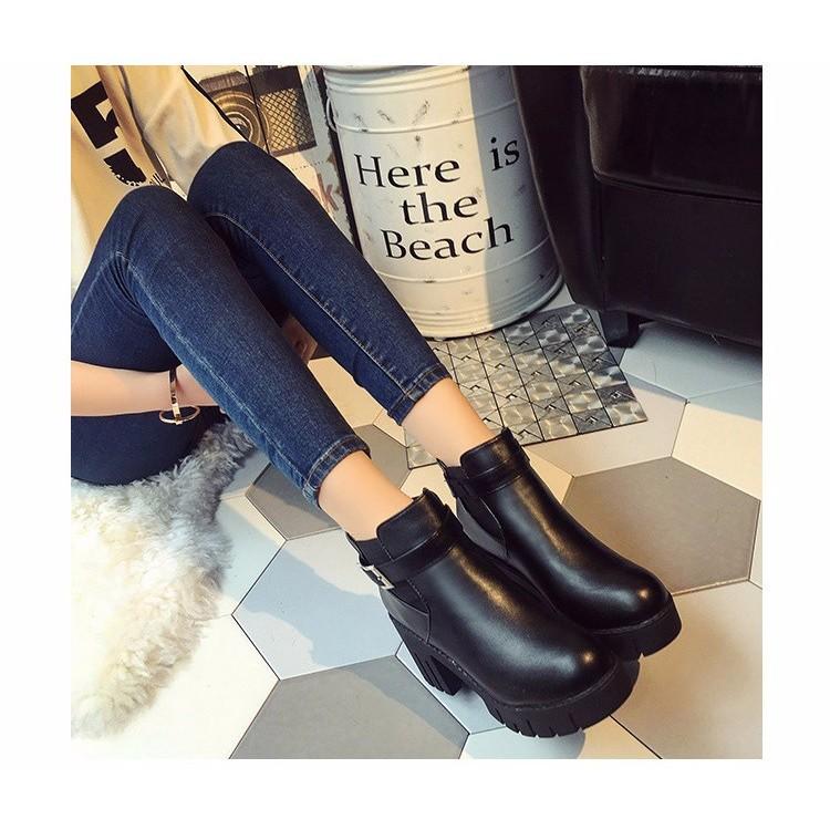 (QUÀ TẶNG KÈM) Giày bốt nữ Hàn Quốc GN244
