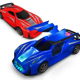 SDWC Electric 360 Rotation Musical LED Light Sports Racing Car Desk Decor Kids Toy