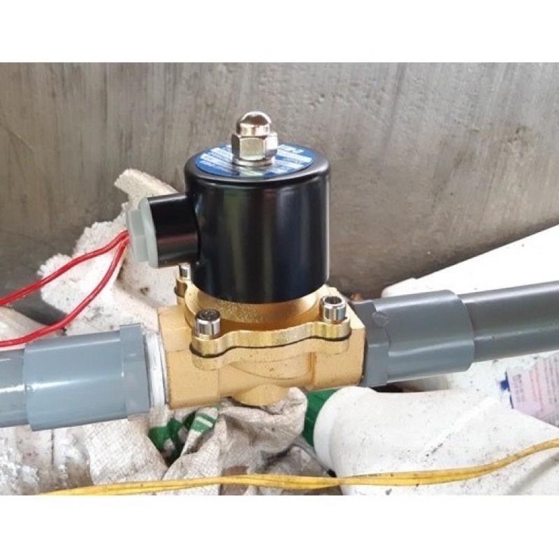 Van điện từ phi 21mm 220v/24v thường đóng thân van bằng đồng