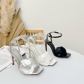 Sandal cao gót 9P hoa trà Sang chảnh - Sandal cao gót 9P nữ Chile
