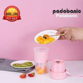 Máy Xay Sinh Tố Sạc Điện Mini Cầm Tay Tiện Lợi  Cốc Xay Sinh Tố Mini Padabanic 4 Lưỡi Dao Mini Blender