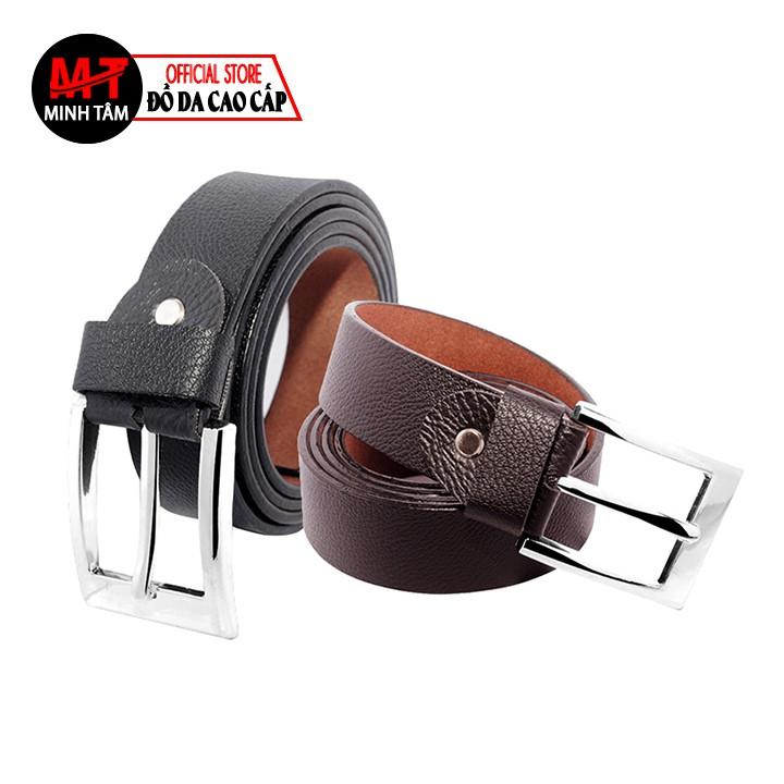 Thắt lưng nam Minh Tâm da PVC cao cấp MT7283 , đen hoặc nâu