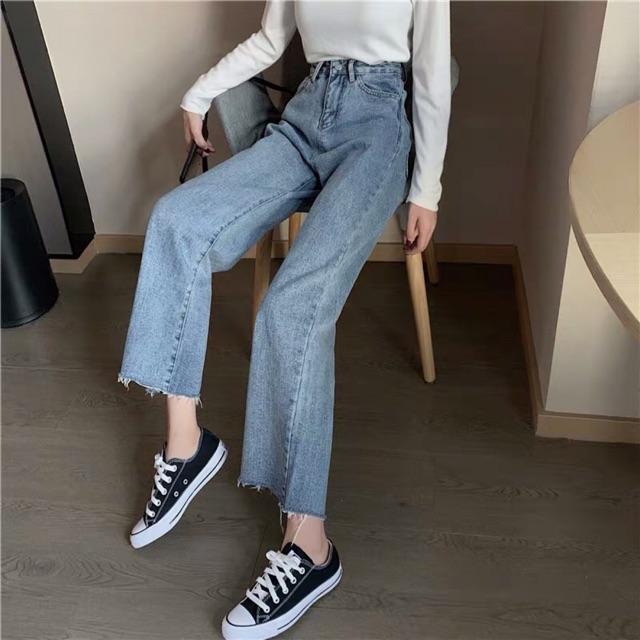 Quần jeans ống xuông