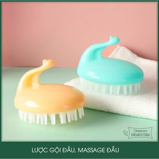 Lược Gội Đầu, Massage Đầu Thư Giản Giúp Làm Sach Da Đầu, Tẩy Tế Bào Khi Gội Đầu thumbnail