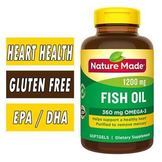 Dầu cá Nature Made Omega 3 Fish Oil 1200mg