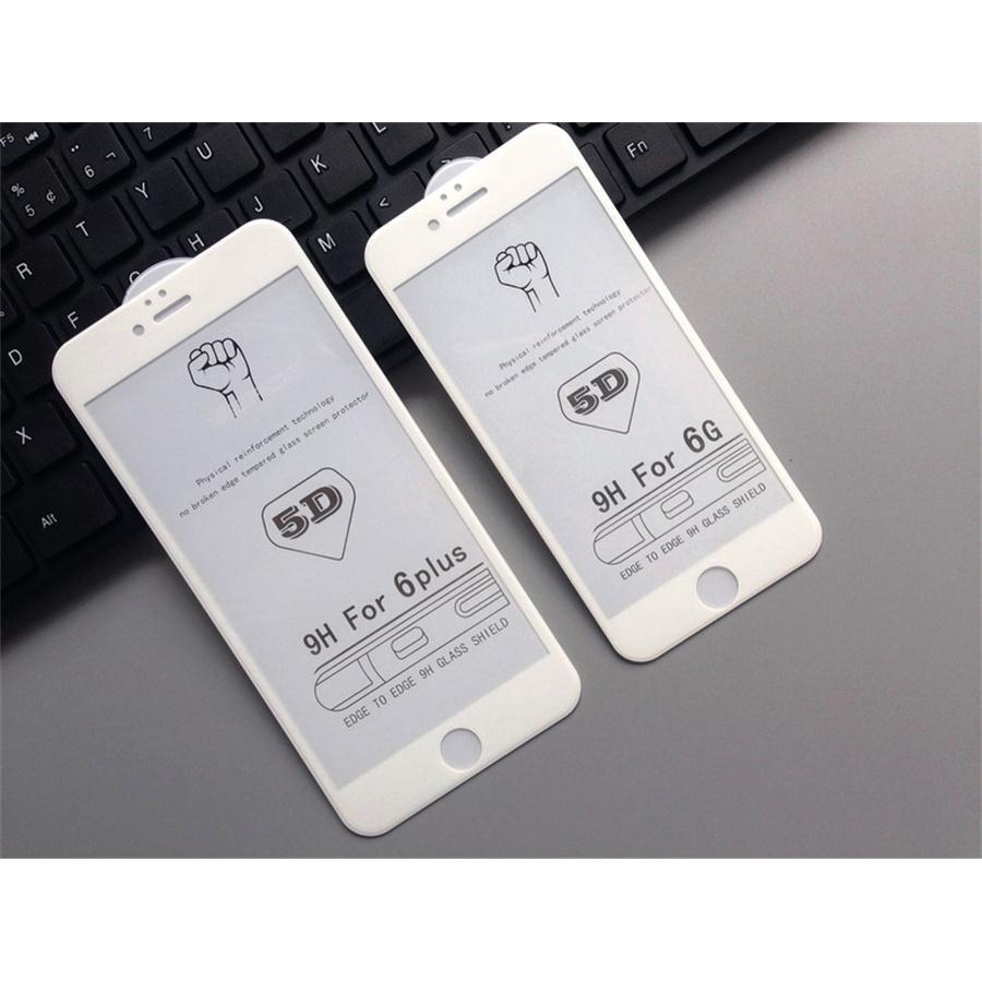 Kính Cường Lực iPhone 6 Plus / 6S Plus 5D Full Màn Hình Trắng ( Nguyên Hộp )
