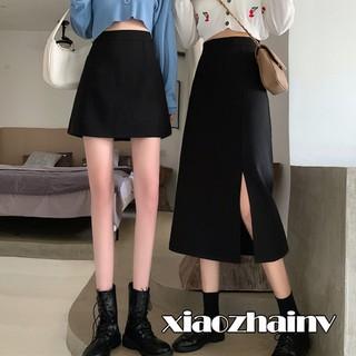 Đầm cạp cao Xiaozhainv Chân váy ngắn / dài midi thiết kế đơn giản dễ dàng phối đồ thanh lịch cho nữ