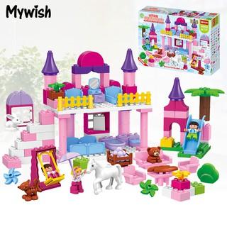 ❤⚽117Pcs/Set Prince Castle Dream House Model Kids Toy
