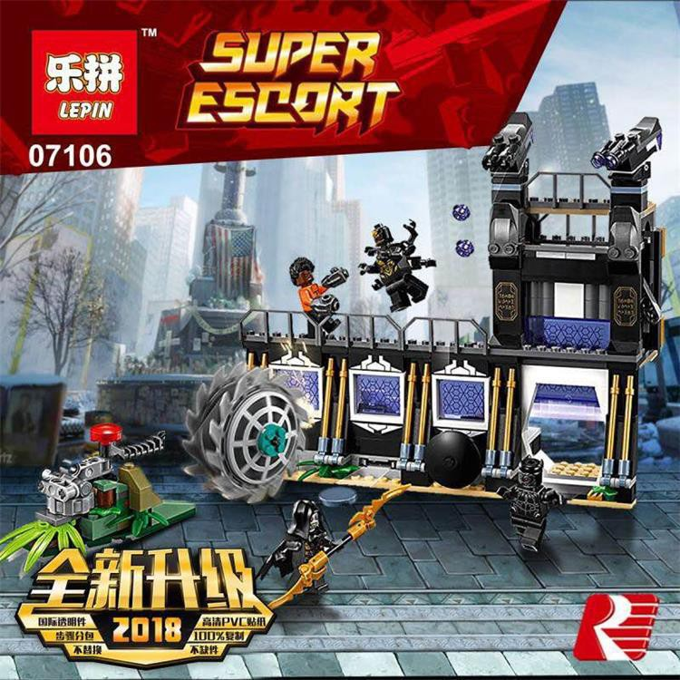 LEGO LEPIN 07106- SUPER HEROS Đẩy Lùi Đòn Tấn Công Của Corvus Glaive 466 Chi Tiết