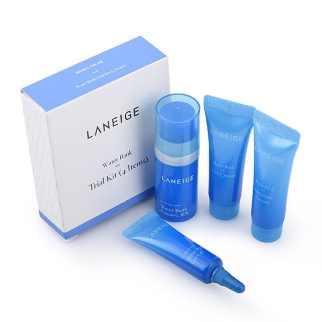 Set dưỡng ẩm Laneige Water Bank Trial Kit (4 Item) - 2813306 , 826408922 , 322_826408922 , 90000 , Set-duong-am-Laneige-Water-Bank-Trial-Kit-4-Item-322_826408922 , shopee.vn , Set dưỡng ẩm Laneige Water Bank Trial Kit (4 Item)