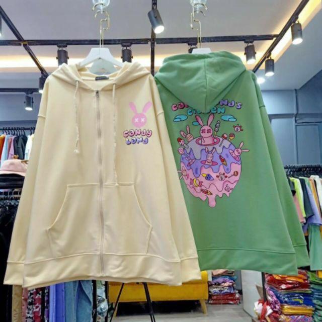 Áo khoác nỉ hoodie candy land nam nữ Unisex