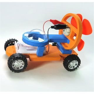 xe chạy nhờ sức gió cánh quạt DIY