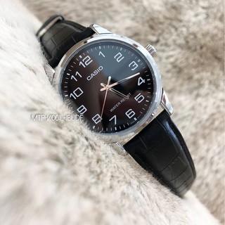 Đồng hồ nam dây da Casio chính hãng Anh Khuê MTP-V001L-1BUDF