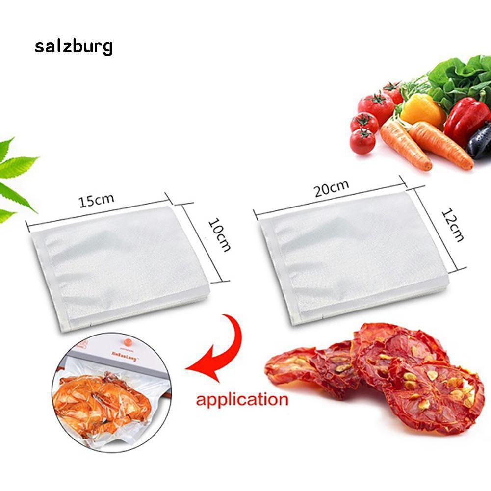 Bộ 100 túi nhựa hút chân không niêm phong thực phẩm tiện dụng