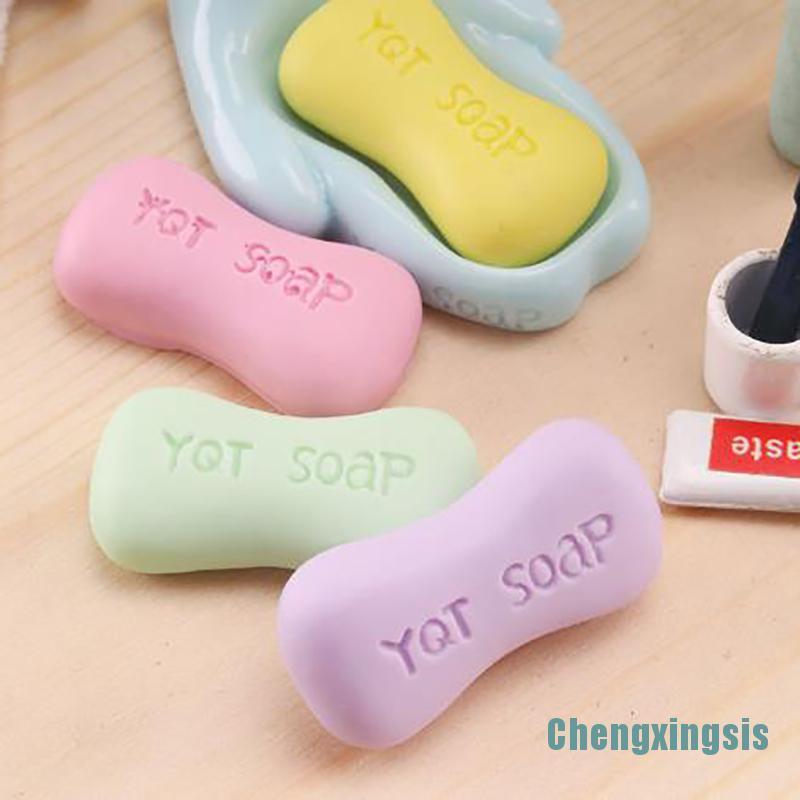 [Chengxingsis]4PCS Dollhouse Miniature 1/12 Soap Pretend Play Doll House Decoration