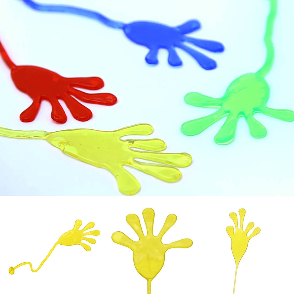 10pcs Novelty Elastic Sticky Squishy Slap Hands Palm Toy Children Funny Kid Gift