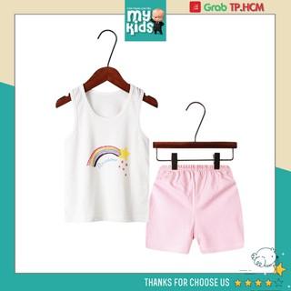 Bộ quần áo trẻ em ba lỗ mùa hè ,đồ bộ bé gái, bộ quần áo thun cho bé chất cotton xuất Hàn Quốc thoáng mát