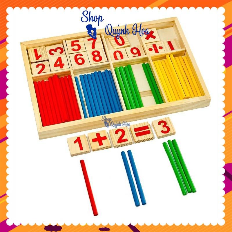 Bảng toán học 10 số và que tính / Bảng que tính toán học và số, 23 x 14.9 x 1.6 cm, 150g. Đồ chơi cho bé – SP003109