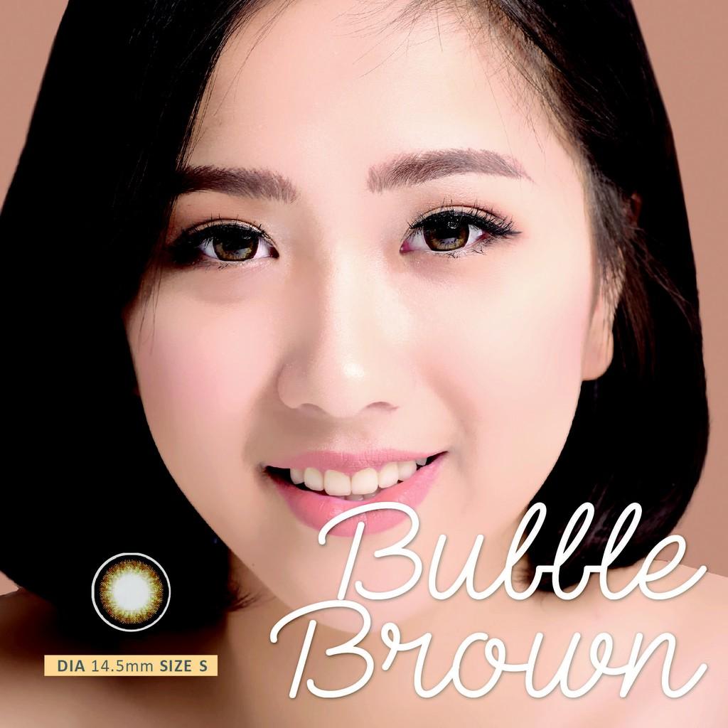 Kính áp tròng Vivimon Bubble brown Lens- Lens Nhập Khẩu Hàn Quốc
