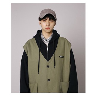 AMO | Áo khoác nỉ kèm áo gile kiểu Hàn, 2 trong 1, ảnh thật