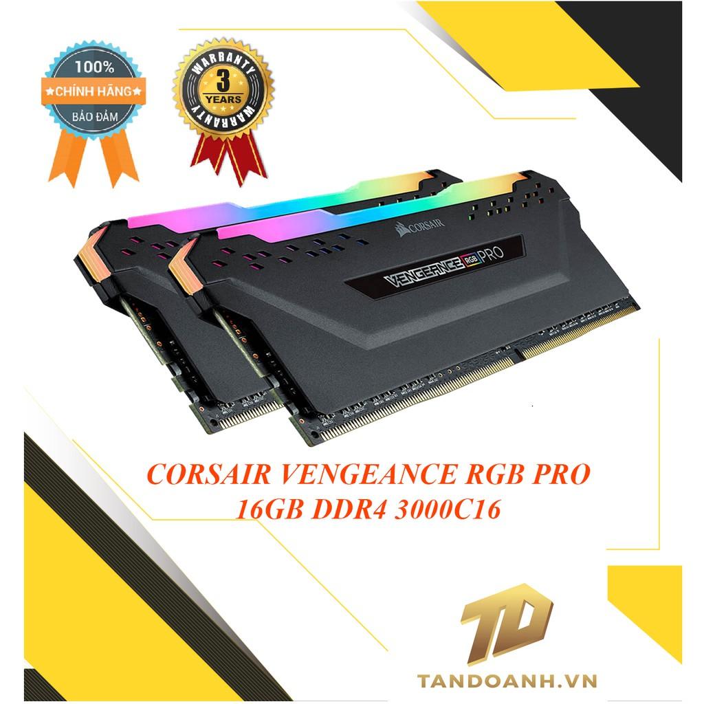 Ram máy tính để bàn CORSAIR VENGEANCE RGB PRO BLACK DDR4