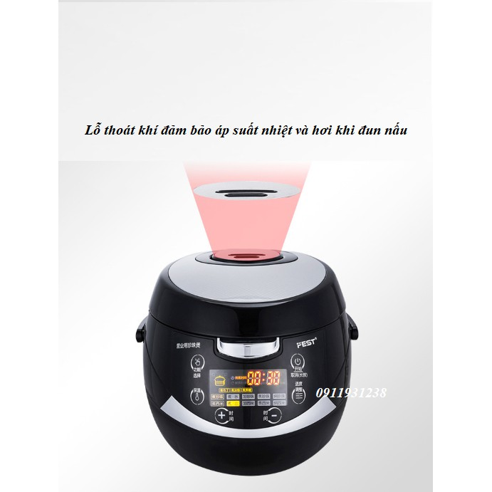 Nồi nấu trân châu tự động FEST RC - 500ML (bảo hành 12 tháng)
