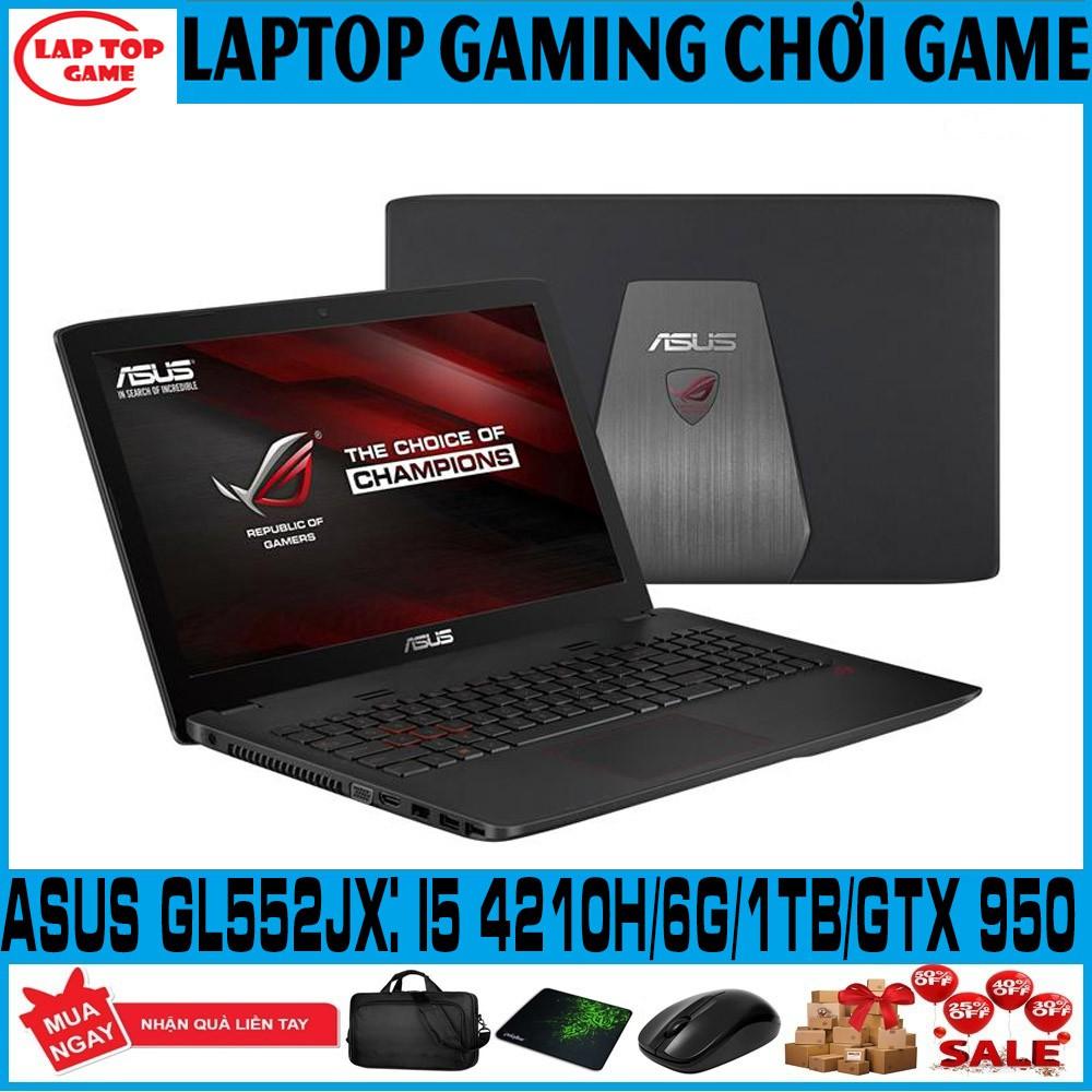 [Mã ELMS5TR giảm 5% đơn 5TR] laptop game Asus gl552jx core i5 4210H, GTX 950, laptop cũ chơi game cơ bản đồ họa