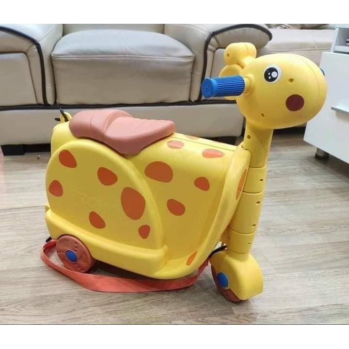 Vali kết hợp xe chòi chân hình hươu cho bé