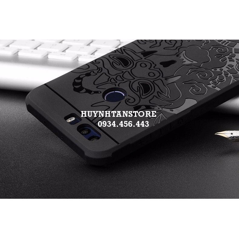 Huawei Honor 8 _ Ốp cao su vân rồng chống sốc chính hãng Cocose