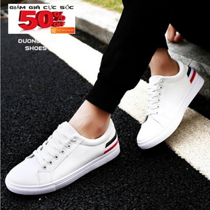 Giày sneaker thể thao nam trắng bền đẹp THG34