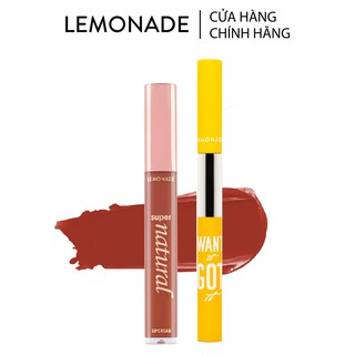 Combo Son kem lì Lemonade SuperNatural Matte Lipcream 5g và Chì kẻ mày 2 đầu Want It Got It 4g