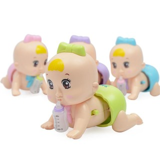 Electric Crawling Doll Baby Infant Talk Intelligent Singing Toys LED Glowing Toddler Educational Toy Gift