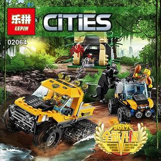 Xếp hình City Lepin 02064 Jungle Halftrack Mission – Xếp hình Xe Tải Bánh Xích Vượt Rừng 404 pcs-ĐC
