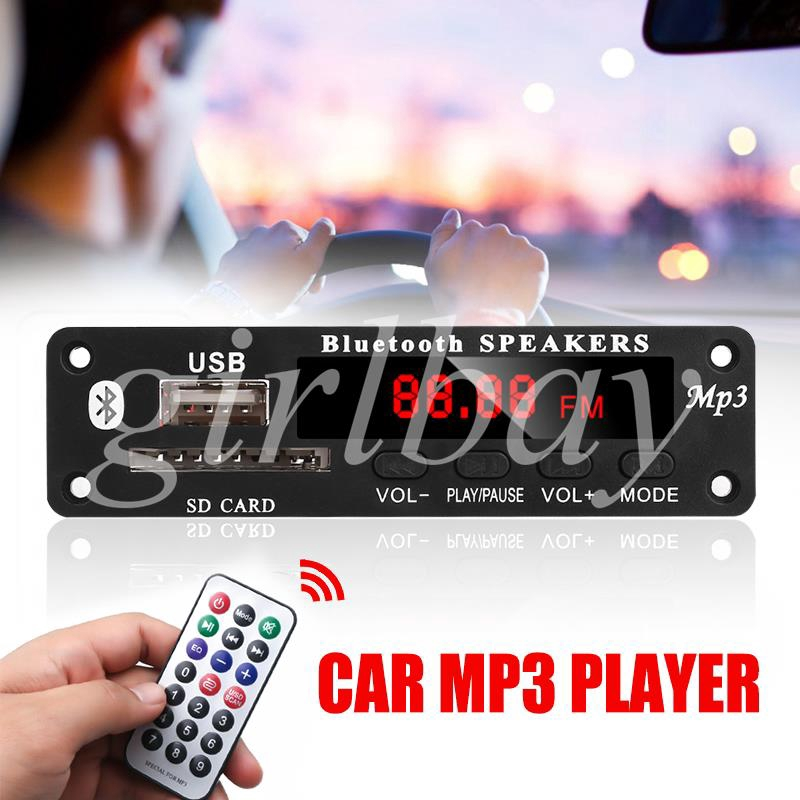 King Radio Module WMA Decoder MP3 Decoder Board Car Bluetooth Generic Common Vehicles Durable USB SD FM