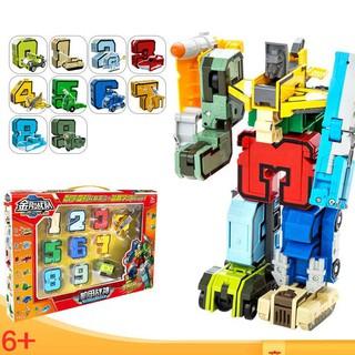 Bộ lắp ráp số biến hình thành robot từ số 0-9