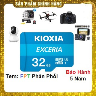 Thẻ nhớ 32GB KIOXIA Exceria microSDHC 10Mb/s - FPT phân phối