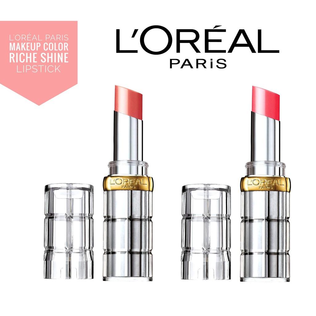 Son màu bóng L'Oreal Makeup Colour Riche Shine Lipstick dưỡng môi