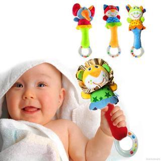 Trống lắc đồ chơi hình thú bông treo xe đẩy đáng yêu cho bé