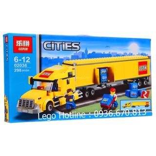 Bộ Lego Lắp Ráp Ninjago City Container Car No.02036. Gồm 298 chi tiết. Lego Xếp Hình Đồ Chơi Cho Bé.