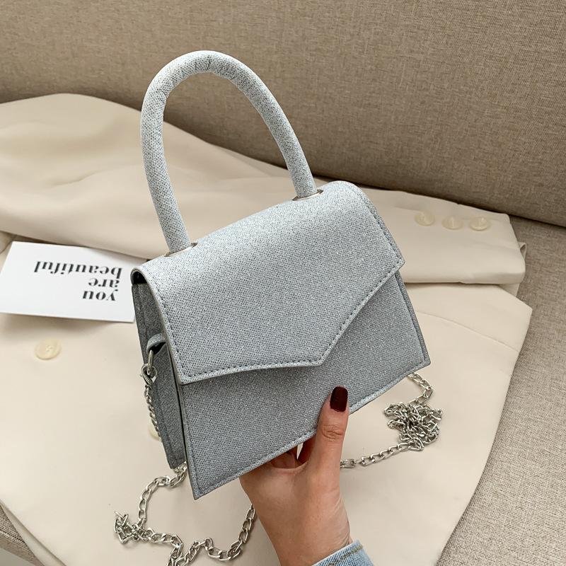 Túi xách JASMIN NOIR phối dây xích thiết kế màu lấp lánh thời trang sang trọng cho nữ
