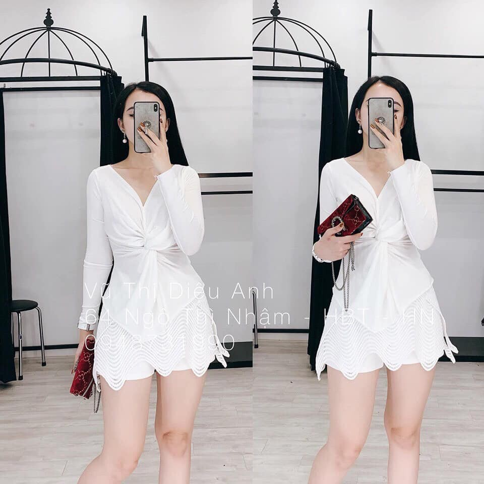 🌸 Áo len xoắn cổ V tay dài nữ SIÊU HOT 🌸 | BigBuy360