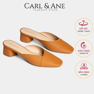 Carl & Ane - Dép cao gót bít mũi gót vuông cao 4cm màu bò _ CL008
