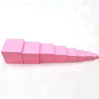 Tháp hồng To – Pink tower giáo cụ #MONTESSORI