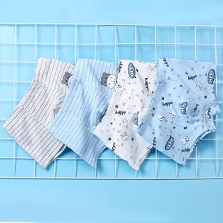 Đồ lót trẻ em cotton nguyên chất 100%, quần đùi bé trai, trẻ em combo 4 cái nhập khẩu