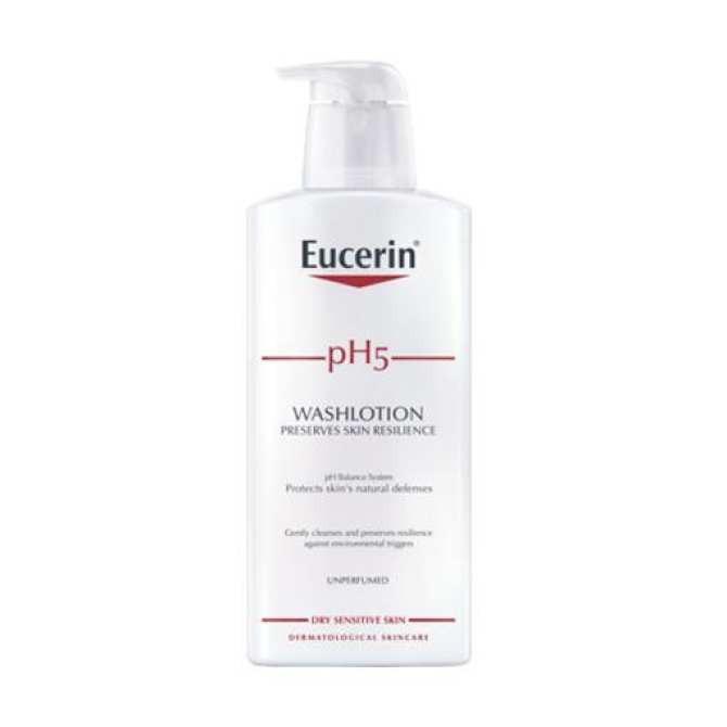 Sữa tắm dạng gel cho da nhạy cảm không mùi pH5 Washlotion 400ml Eucerin
