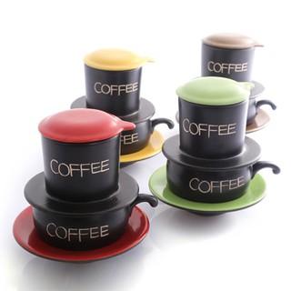 Bộ Phin Cà Phê Sứ UNC Việt Nam - Nhiều màu sắc, đủ món, pha cà phê sẽ ngon hơn. thumbnail