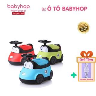 Bô ô tô babyhop cho trẻ em có vô lăng và khung hình bánh xe cho bé tập đi vệ sinh tự lập thumbnail